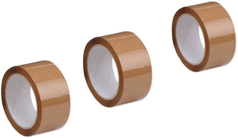 Kitchenery Single Sided Handheld Cello Tapes (Manual)(Set of 3, Brown)