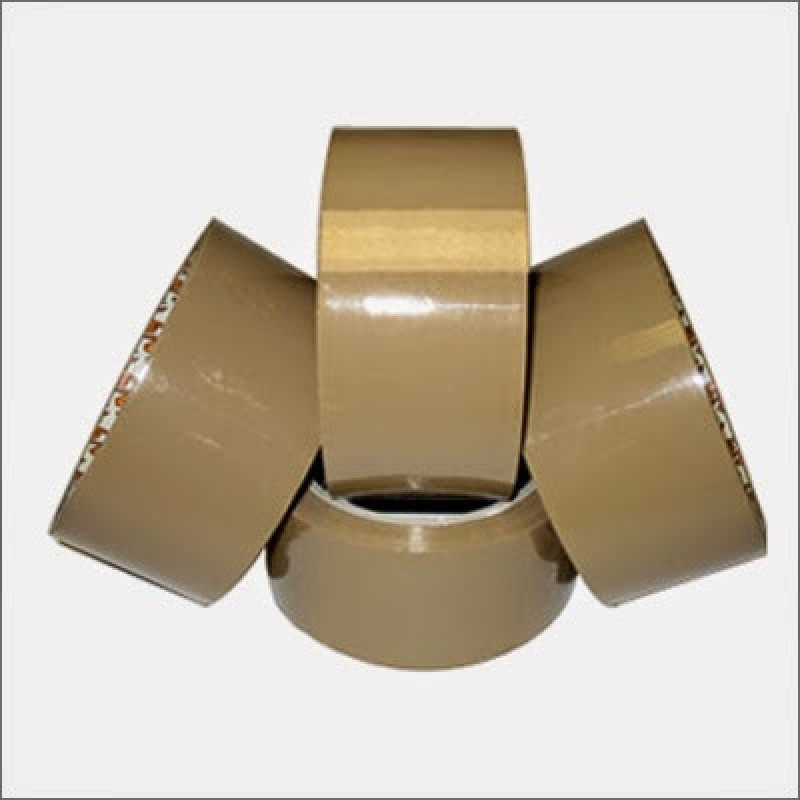 SPF Packing Material CB200M Single Sided Packing Cello Tapes (Manual)(Set of 4, Brown)