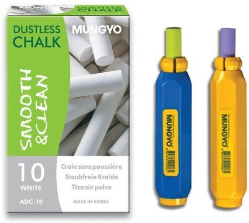 Mungyo ADC-10 Multipurpose Dustless Chalk and Holder(150 Sticks)