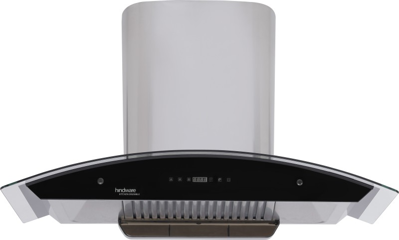 Hindware Nevio 90 - Heating Auto Clean Wall Mounted Chimney(Brush Silver 1200)