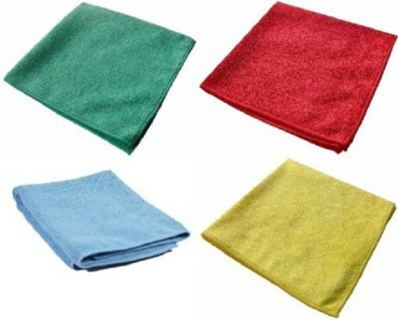 Smart Care Wet and Dry Microfibre Cleaning Cloth(Pack of 4)