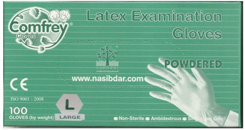 Comfrey Examination Gloves(Large) Wet and Dry Disposable Glove(Large)