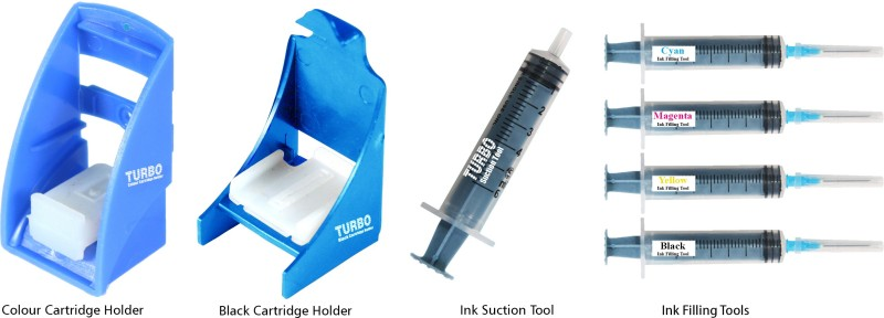 Turbo Tool kit for ink filling & nozzle cleaning for HP 680 ink cartridge for Computers(ttkhp680)