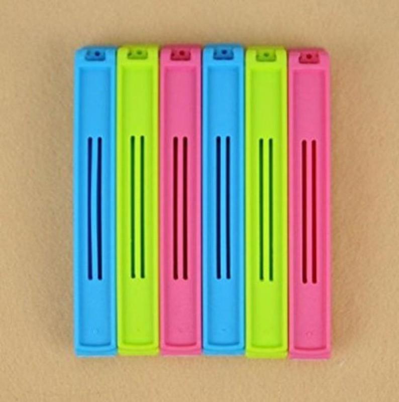 Divinext Smart Medium Plastic Sealer Clamps(Set of 6, Multicolor)