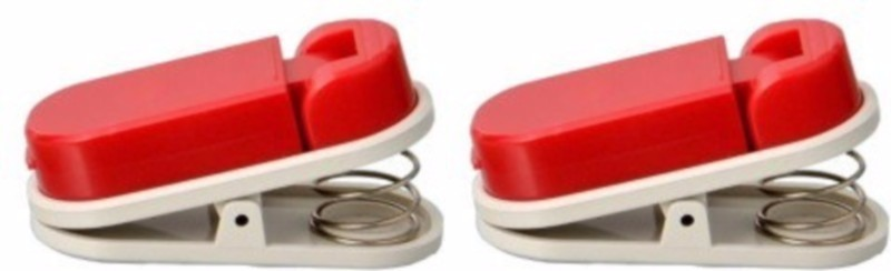Weltbild Smart Small Plastic Paper Clip(Set of 2, Red)
