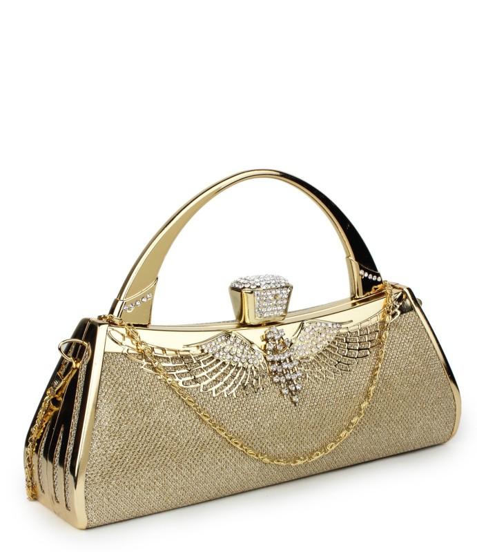 Star Style Women Festive Gold Clutch