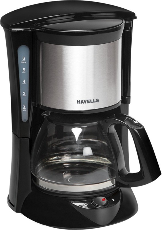 Havells Drip cafe 6 6 cups Coffee Maker(Black & Silver)