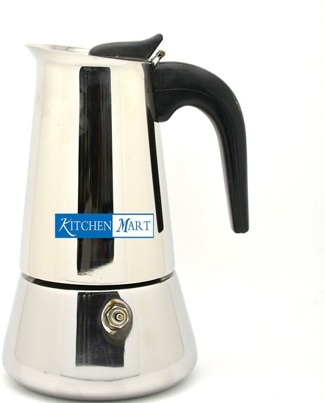 Kitchen Mart Atlasware 260 ml 4 cups Coffee Maker(Silver)