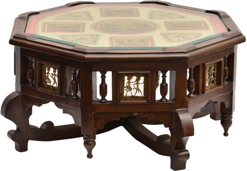 ExclusiveLane Teak Wood Solid Wood Coffee Table(Finish Color - Walnut)