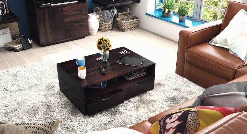 Urban Ladder Zephyr Storage Solid Wood Coffee Table(Finish Color - Mahogany)
