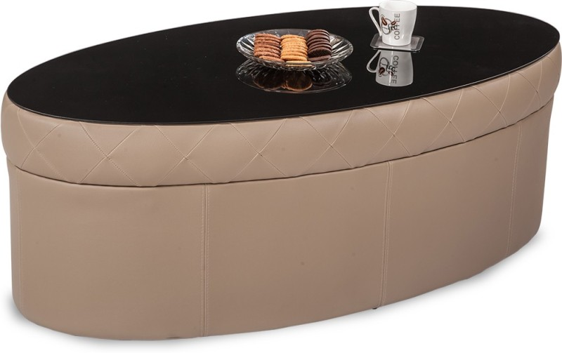 Durian COOPER/CT/B Glass Coffee Table(Finish Color - Beige)