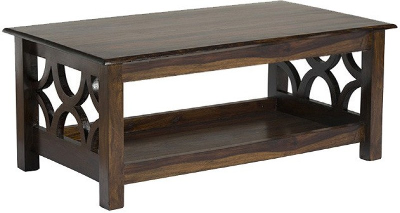 Smart Choice Furniture Rosewood (Sheesham)_JICT04_Matte finish Solid Wood Coffee Table(Finish Color - Walnut)