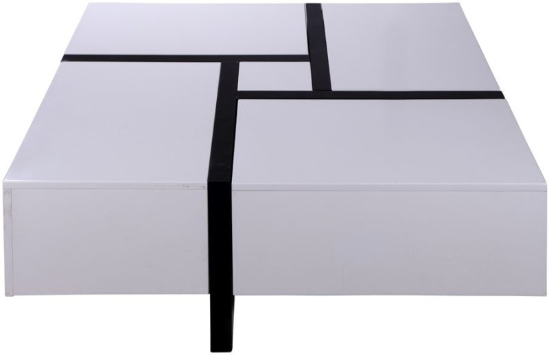 Evok Zen Engineered Wood Coffee Table(Finish Color - White)