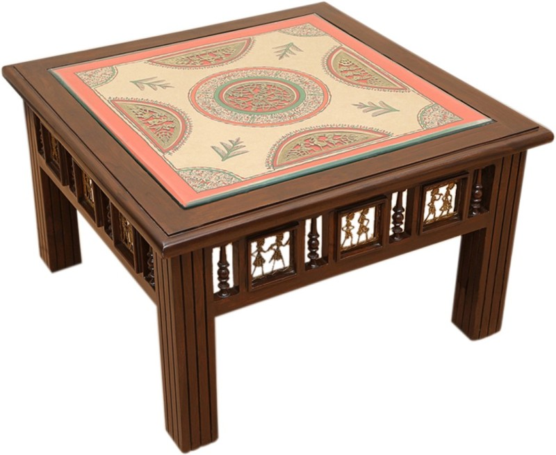 ExclusiveLane Teak Wood Solid Wood Coffee Table(Finish Color - Walnut Brown)