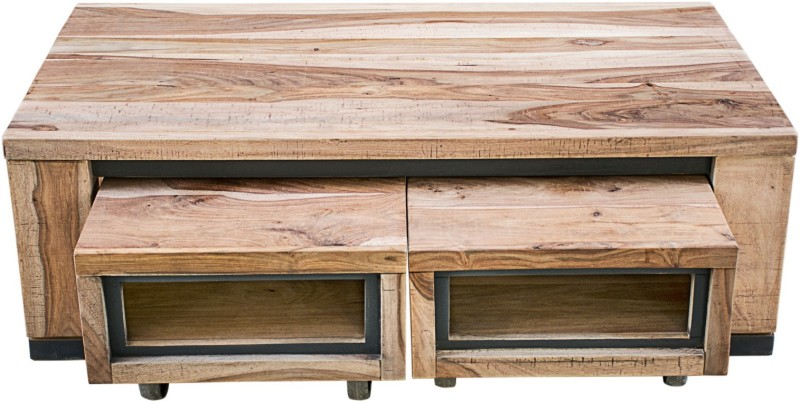 InLiving Solid Wood Coffee Table(Finish Color - Natural Stain (Touching & Machining Only))