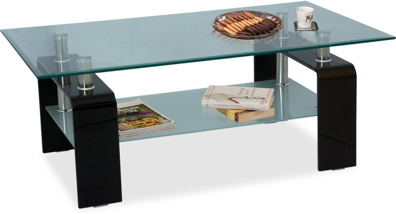 Durian ZEE/34480 Glass Coffee Table(Finish Color - Clear Glass)