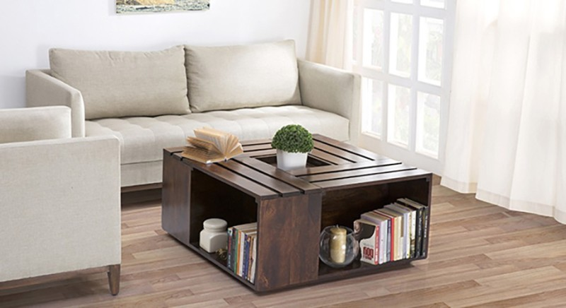 Urban Ladder Penland Solid Wood Coffee Table(Finish Color - Walnut)