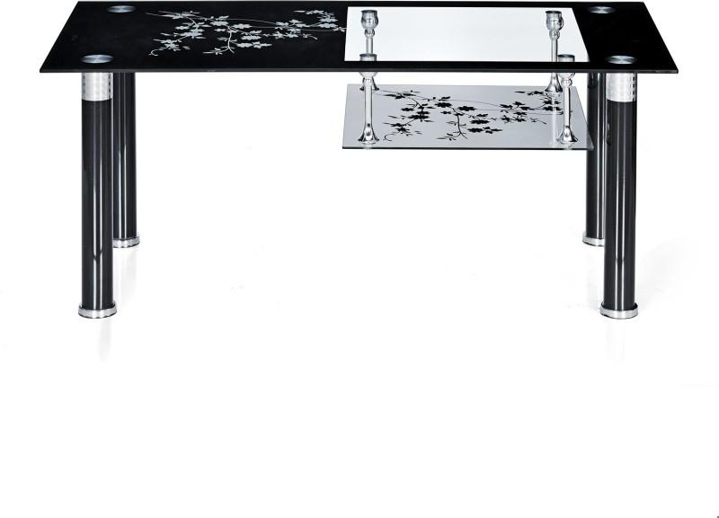 Nilkamal Triton Glass Coffee Table(Finish Color - Black & White)