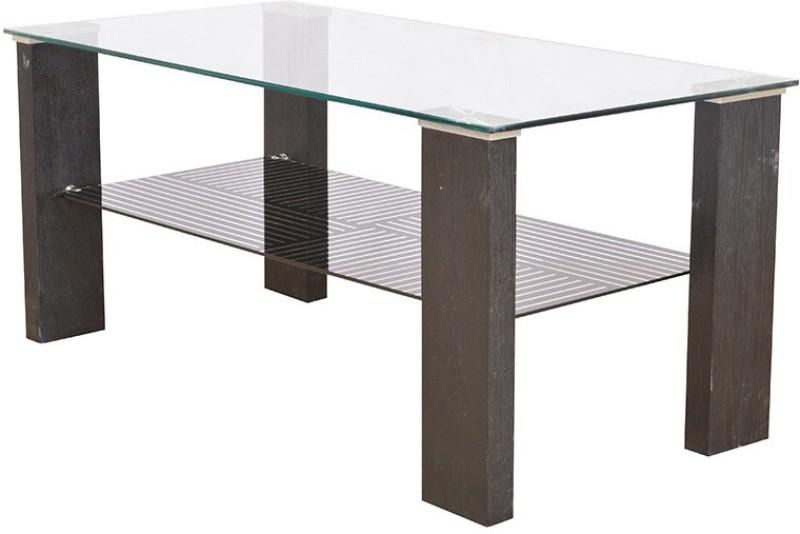 HomeTown Alice Engineered Wood Coffee Table(Finish Color - Black)