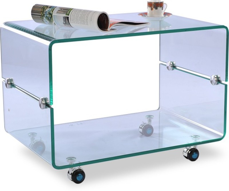 Durian ZEE/34486/B Glass Coffee Table(Finish Color - Green)