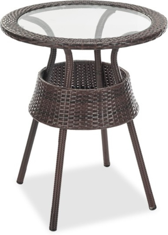 Durian ADLER Synthetic Fiber Coffee Table(Finish Color - Coffee Brown)
