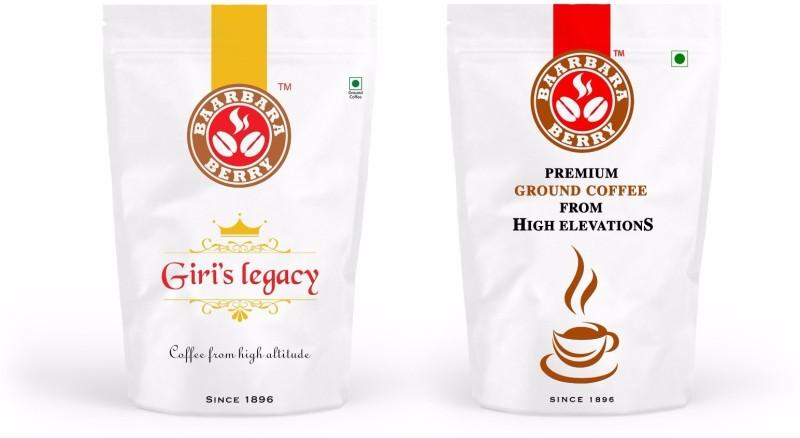 Baarbara Berry Premium, Giri's Legacy Filter Coffee(2 x 125 g, Chikory Flavoured)
