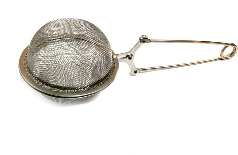 Bud white Steel Base Strainer(Silver Pack of 1)