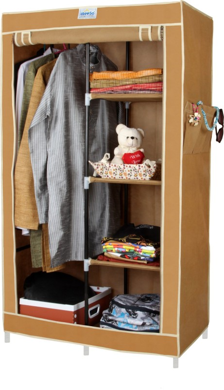 CbeeSo Stainless Steel Collapsible Wardrobe(Finish Color   Dark Beige) ...