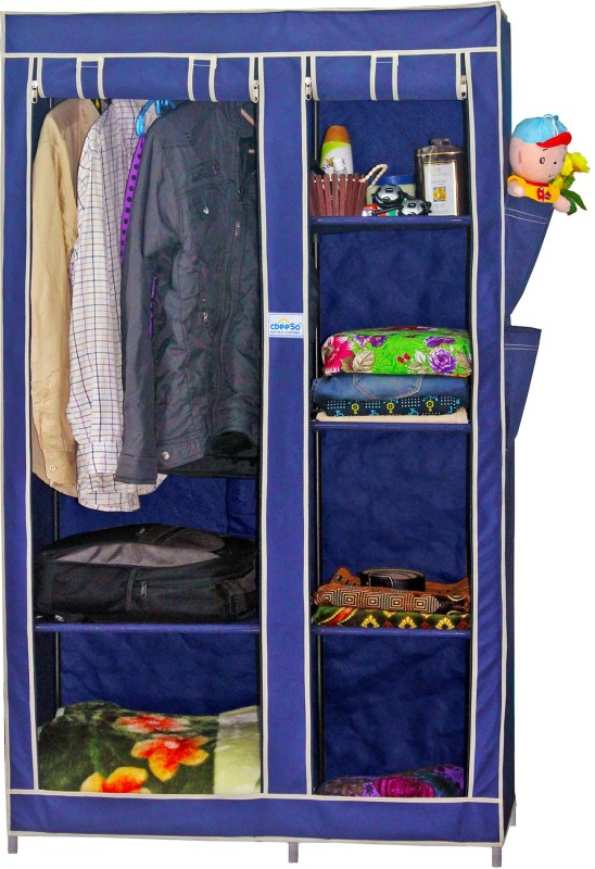 cbeeso-stainless-steel-collapsible-wardrobefinish-color-navy-blue