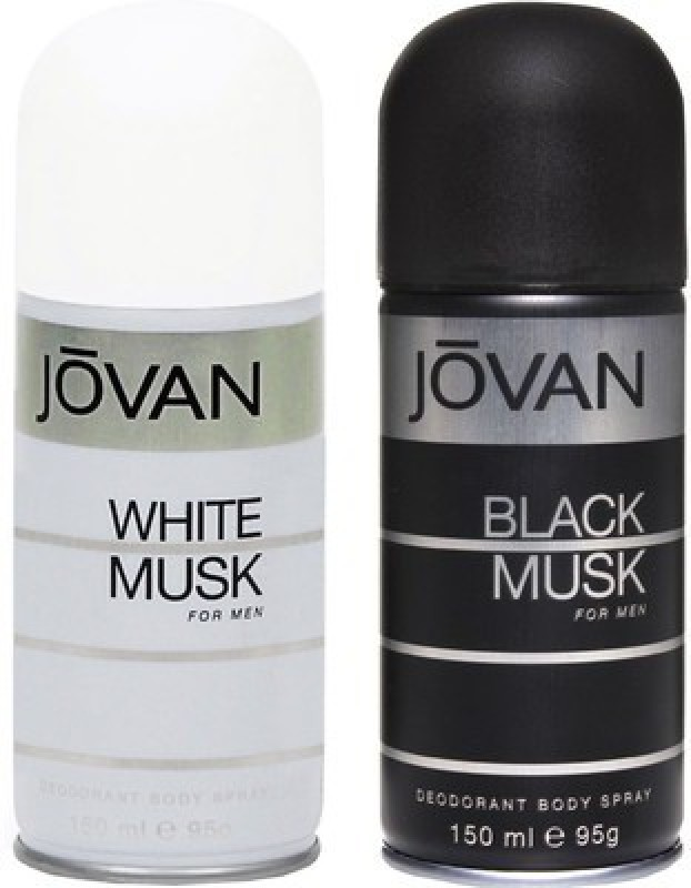 Jovan White Musk and Black Musk Combo Set(Set of 2)