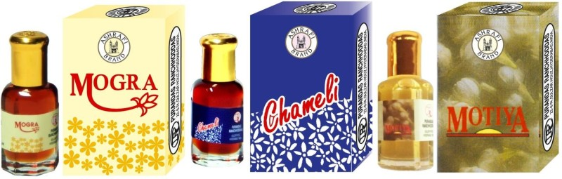 Purandas Ranchhoddas Jasmine (Mogra Chameli Motiya) Attar - 12ml Each Gift Set(Set of 3) image