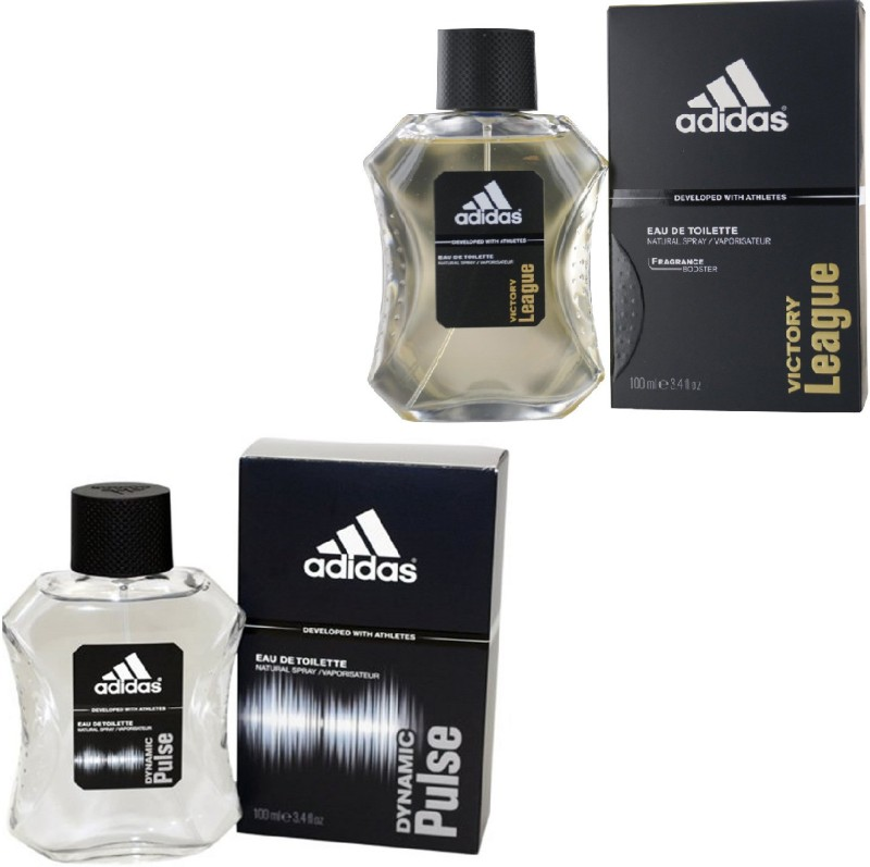 Adidas Dynamic Pulse Edt 100 Ml And Victory League Edt For Men 100 Ml Gift Set  Combo Set(Set of 2)