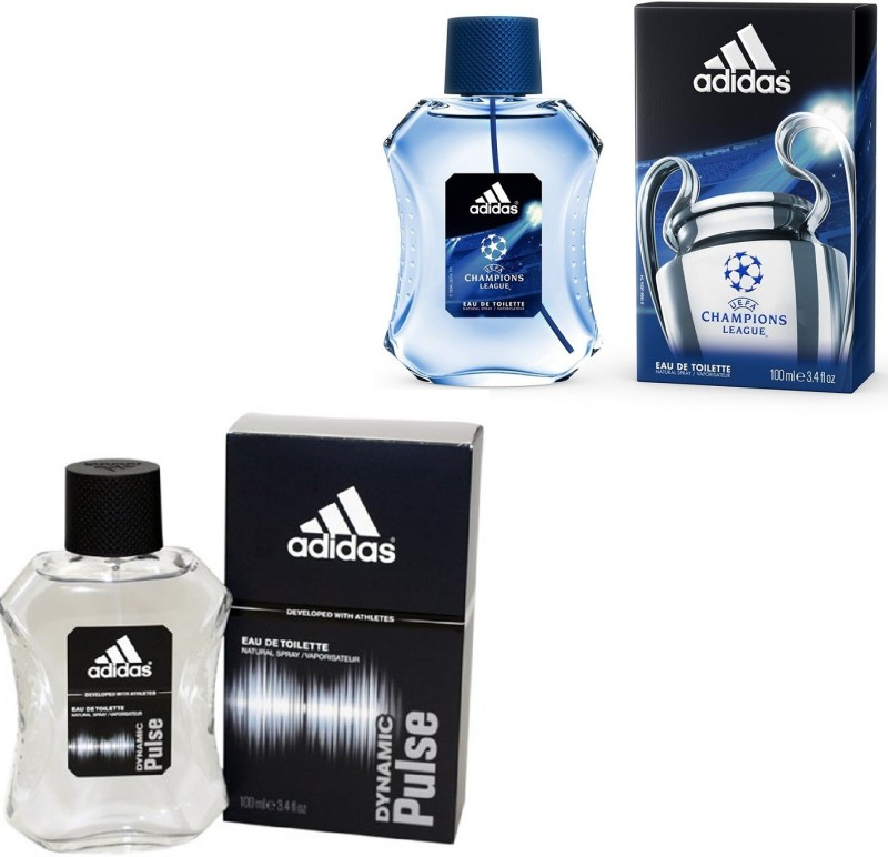 Adidas Dynamic Pulse Edt 100 Ml And Champions League Edt For Men 100 Ml Gift Set  Combo Set(Set of 2)