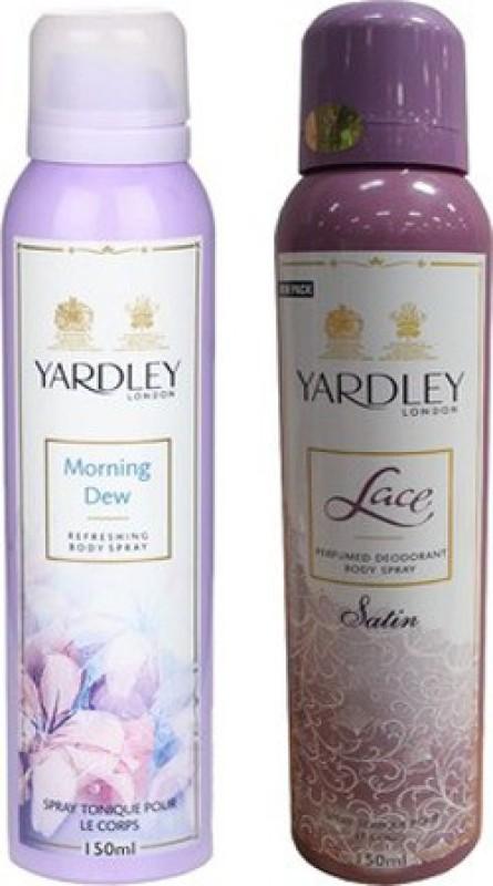 Yardley London Morning Dew and Lace Satin Combo Set(Set of 2)