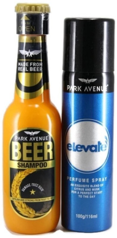 Park Avenue Beer Shampoo & Elevate 116 Combo Set