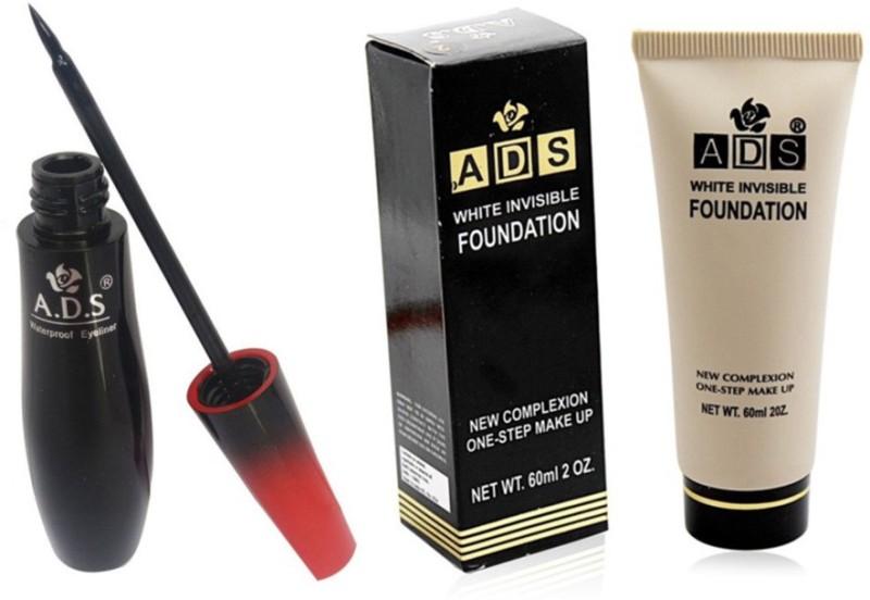 ADS 1595 waterproof eyeliner / white invisible foundation(Set of 2)