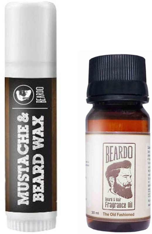 Beardo Waxstick 4gm and Old Fashioned Oil 30ml(Set of 2)