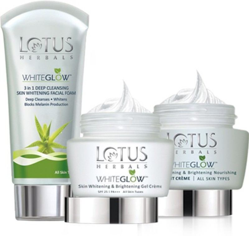 Lotus White Glow Day And Night Pack(Set of 3)