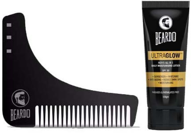 Beardo Shapping comb and Lotion(Set of 2)