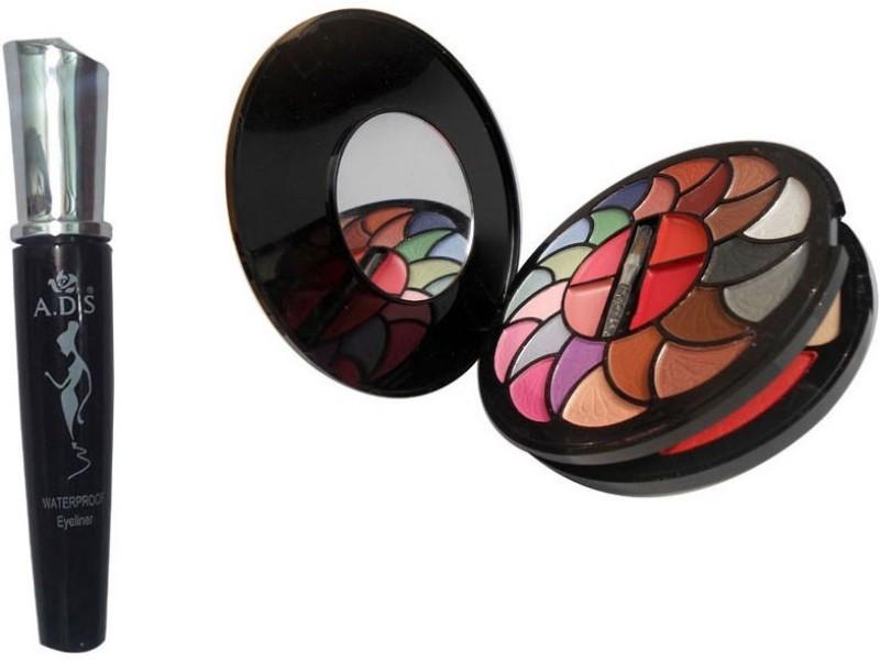 ADS WaterProof Eyeliner, 8188 Makeup Kit(Set of 2)