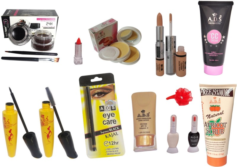 ADS Best Makeup Combo - 13 in 1(Set of 13)