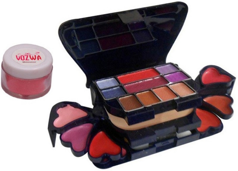 Vozwa Reddish Shimmer Powder with Makeup Kit(Set of 2)