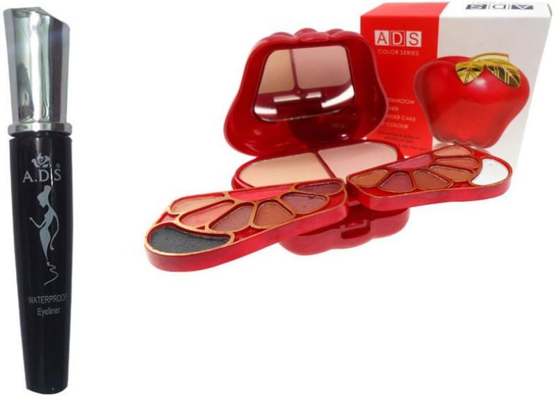 ADS WaterProof Eyeliner, 8010 Makeup Kit(Set of 2)
