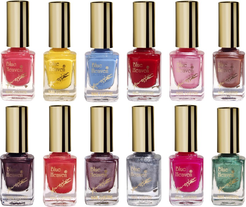 Blue Heaven Combo Of 12 Xpression Nail Paint(Set of 12)