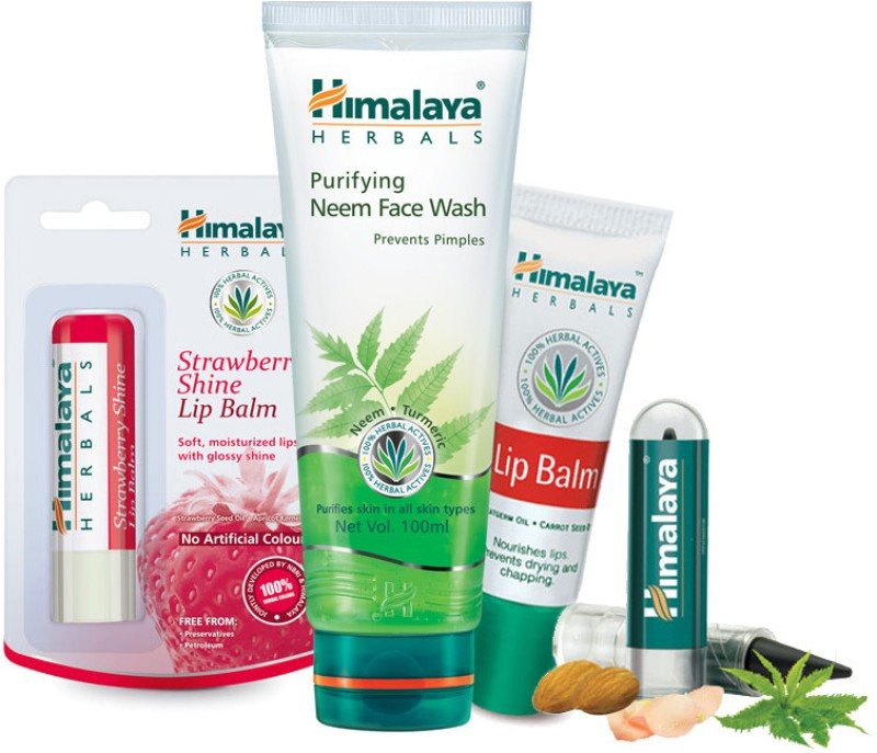 Himalaya Face Kit (Kajal Lip Balm'S Face Wash)(Set of 4)