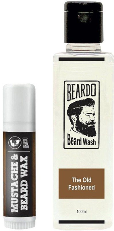Beardo Waxstick 4gm and Old Fashioned Wash 100ml(Set of 2)