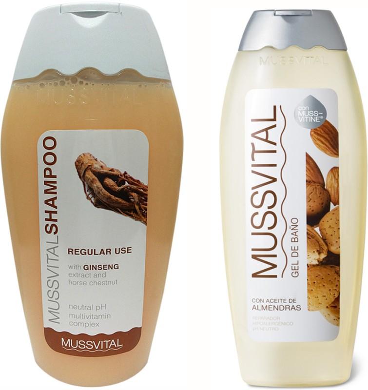 Mussvital Frequent(Regular) Shampoo & Almond Shower Gel(Set of 2)