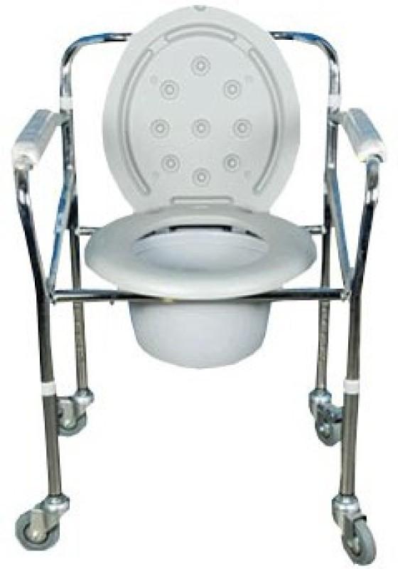 karma RAINBOW 5 Commode Shower Chair(Grey)