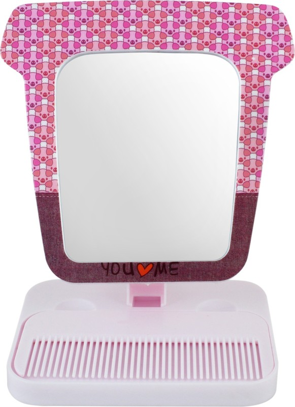 Ear Lobe & Accessories Mirror With Stand And Comb