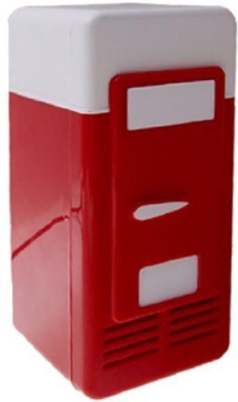 Shrih SH - 03046 Desktop USB Mini Fridge 5 L Compact Refrigerator(Red, White)